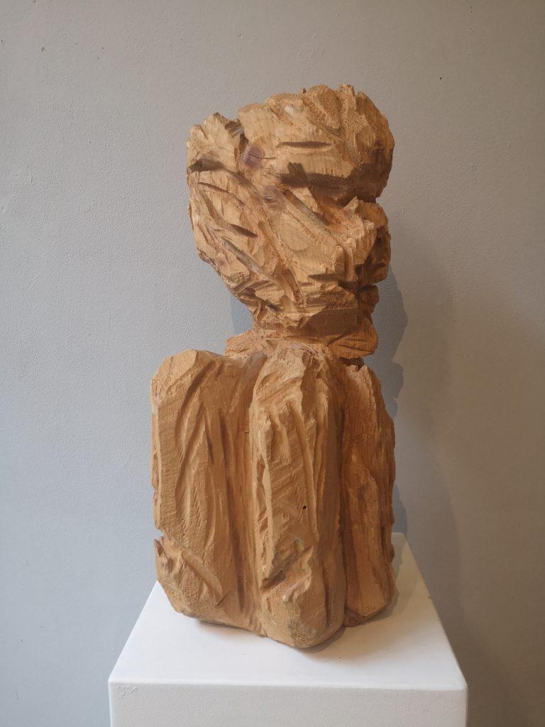 Holzskulptur Kobold